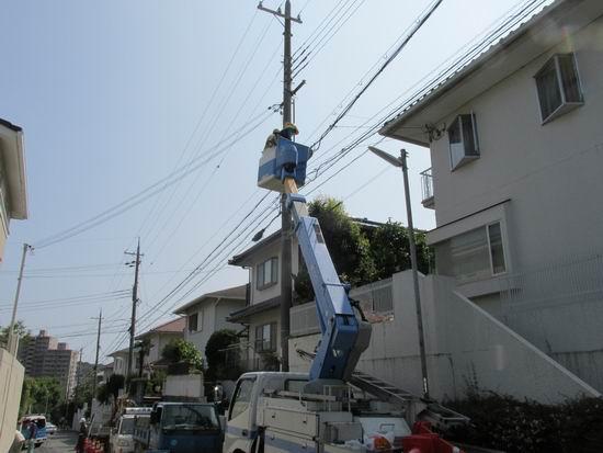 電柱移設対応工事